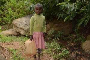 The Water Project : 1-kenya4757-current-water-source-for-distant-families