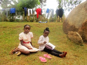 The Water Project : 11-kenya4706-venessa-and-her-sister-at-their-compound