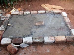 The Water Project : 13-kenya4702-sanitation-platform-construction