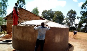 The Water Project : 15-kenya4636-dome-construction