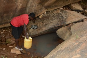 The Water Project : 2-kenya4757-current-water-source-for-distant-families