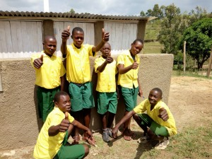 The Water Project : 25-kenya4638-finished-latrines