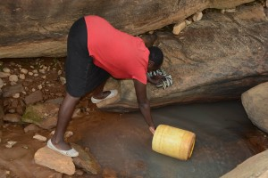 The Water Project : 3-kenya4757-current-water-source-for-distant-families
