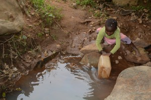 The Water Project : 5-kenya4757-current-water-source-for-distant-families
