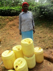 The Water Project : 6-kenya4706-jescah-with-her-jerrycans