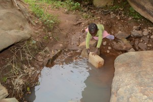 The Water Project : 6-kenya4757-current-water-source-for-distant-families