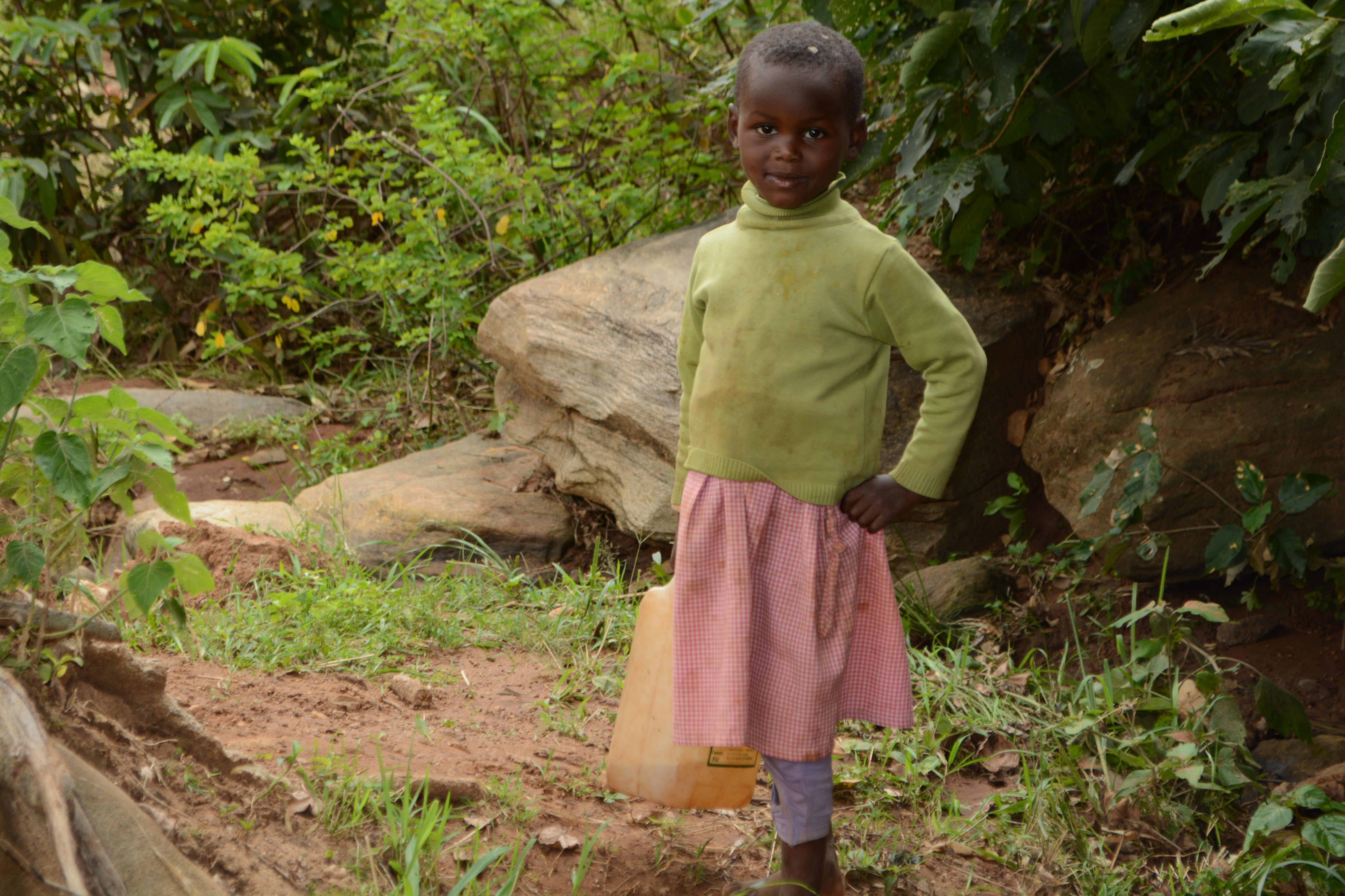The Water Project : 7-kenya4757-current-water-source-for-distant-families