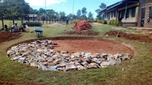 The Water Project : 1-kenya4645-setting-tank-foundation
