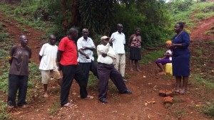 The Water Project : 1-kenya4708-community-member-talking-about-health