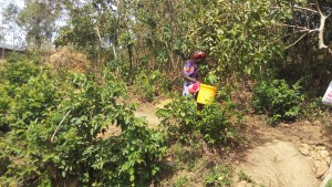 The Water Project : 1-kenya4717-mrs-amalavi-going-to-fetch-water-at-the-spring