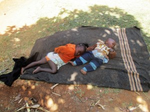 The Water Project : 10-kenya4715-children-put-down-for-a-nap
