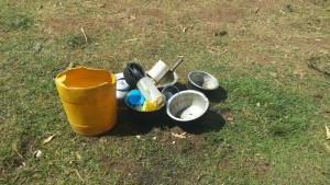 The Water Project : 10-kenya4727-utensils-on-the-ground