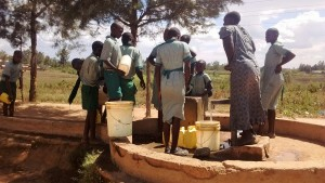 The Water Project : 11-kenya4661-students-waiting-at-the-well