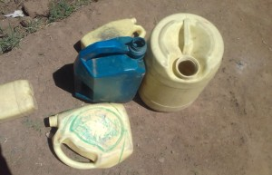 The Water Project : 11-kenya4692-water-containers
