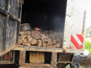 The Water Project : 18-kenya4643-truck-delivering-materials