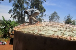 The Water Project : 22-kenya4649-dome-construction