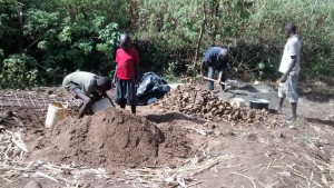 The Water Project : 23-kenya4700-mixing-concrete