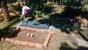 The Water Project : 26-kenya4704-sanitation-platform-construction