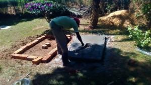 The Water Project : 27-kenya4704-sanitation-platform-construction