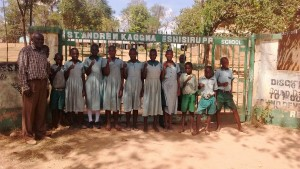 The Water Project : 3-kenya4661-teacher-poses-with-students