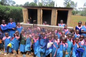 The Water Project : 33-kenya4648-finished-latrines