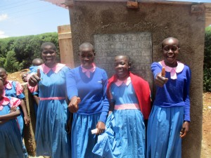 The Water Project : 34-kenya4648-finished-latrines