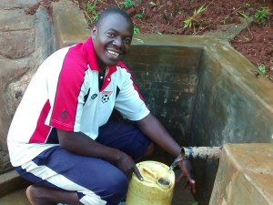 The Water Project : 34-kenya4710-makutwa-dickson-fetches-clean-water