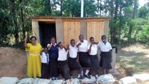The Water Project : 35-kenya4645-finished-latrines