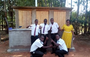 The Water Project : 37-kenya4645-finished-latrines