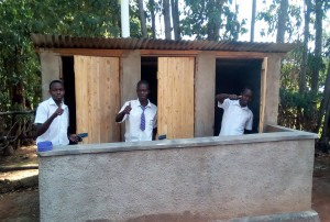 The Water Project : 38-kenya4645-finished-latrines
