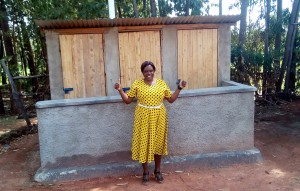 The Water Project : 39-kenya4645-finished-latrines