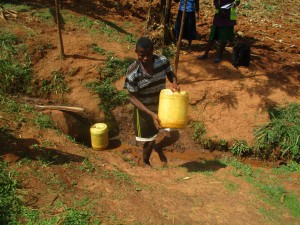 The Water Project : 4-kenya4715-fetching-water