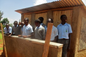 The Water Project : 46-kenya4643-finished-latrines