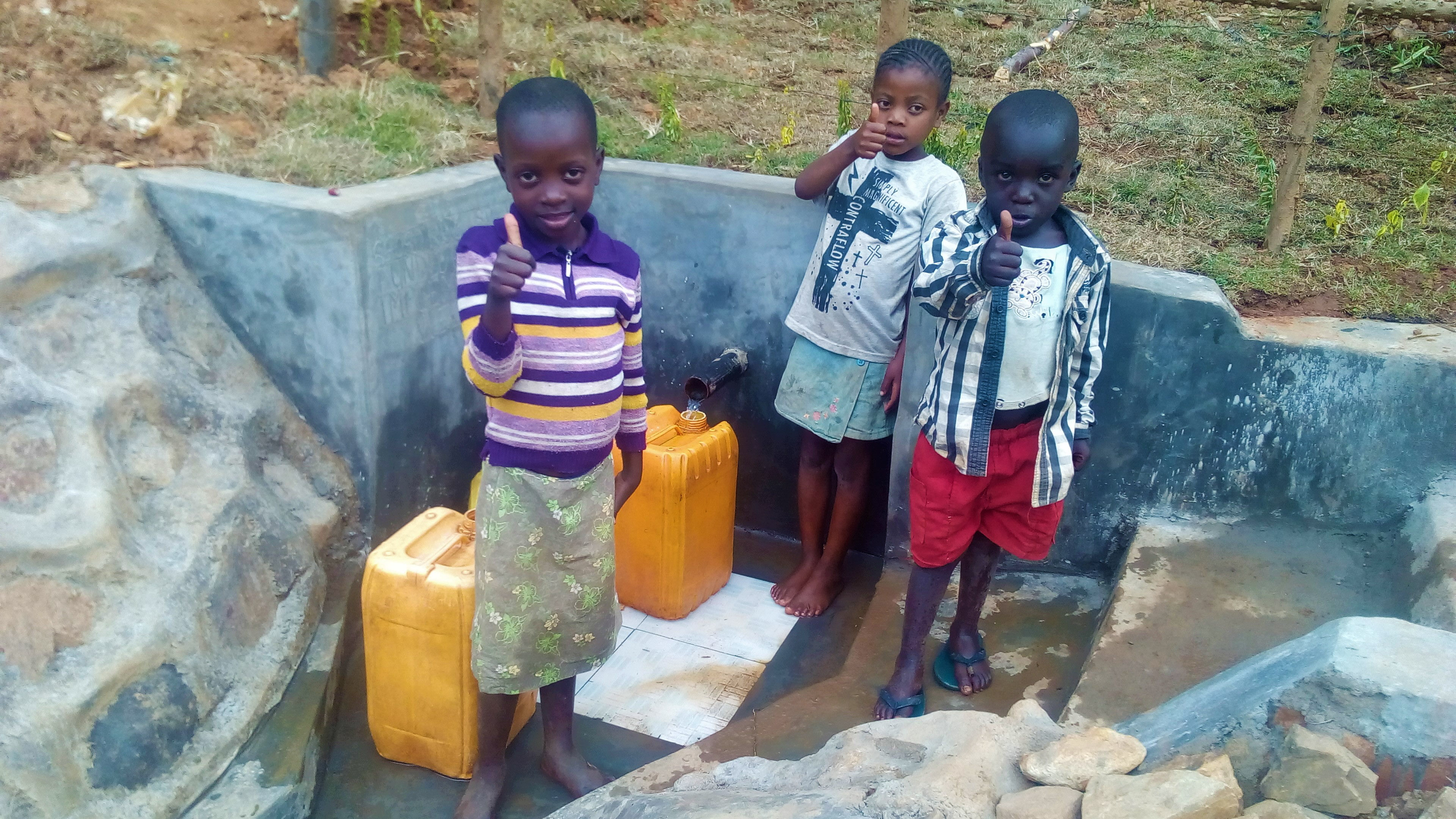 The Water Project : 48-kenya4704-protected-spring