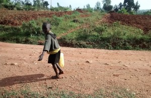 The Water Project : 6-kenya4715-small-child-carrying-water