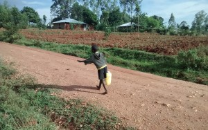 The Water Project : 7-kenya4715-small-child-carrying-water