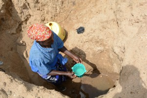 The Water Project : 8-kenya4782-family-one-fetching-water