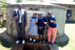 The Water Project : 1-kenya4597-catherine-from-wewasafo-with-headmaster-and-students