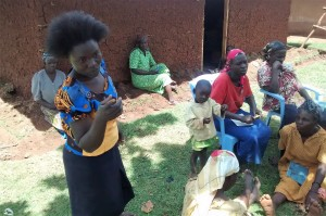 The Water Project : 10-kenya4715-explaining-health-in-the-village