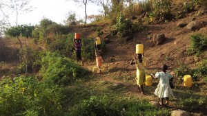 The Water Project : 10-kenya4743-walking-for-dirty-water