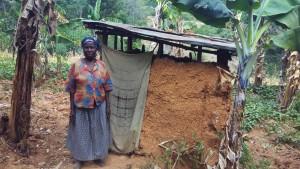 The Water Project : 14-kenya4743-rodah-by-her-latrine