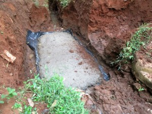 The Water Project : 15-kenya4706-excavating-and-setting-foundation-base