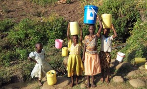 The Water Project : 3-kenya4743-girls-fetch-water-from-manga-spring