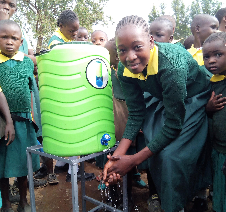The Water Project : 37-kenya4638-hand-washing
