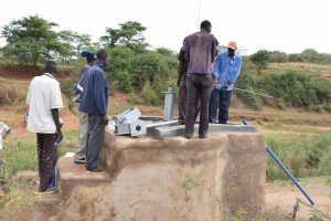 The Water Project : 8-kenya4780-well-construction