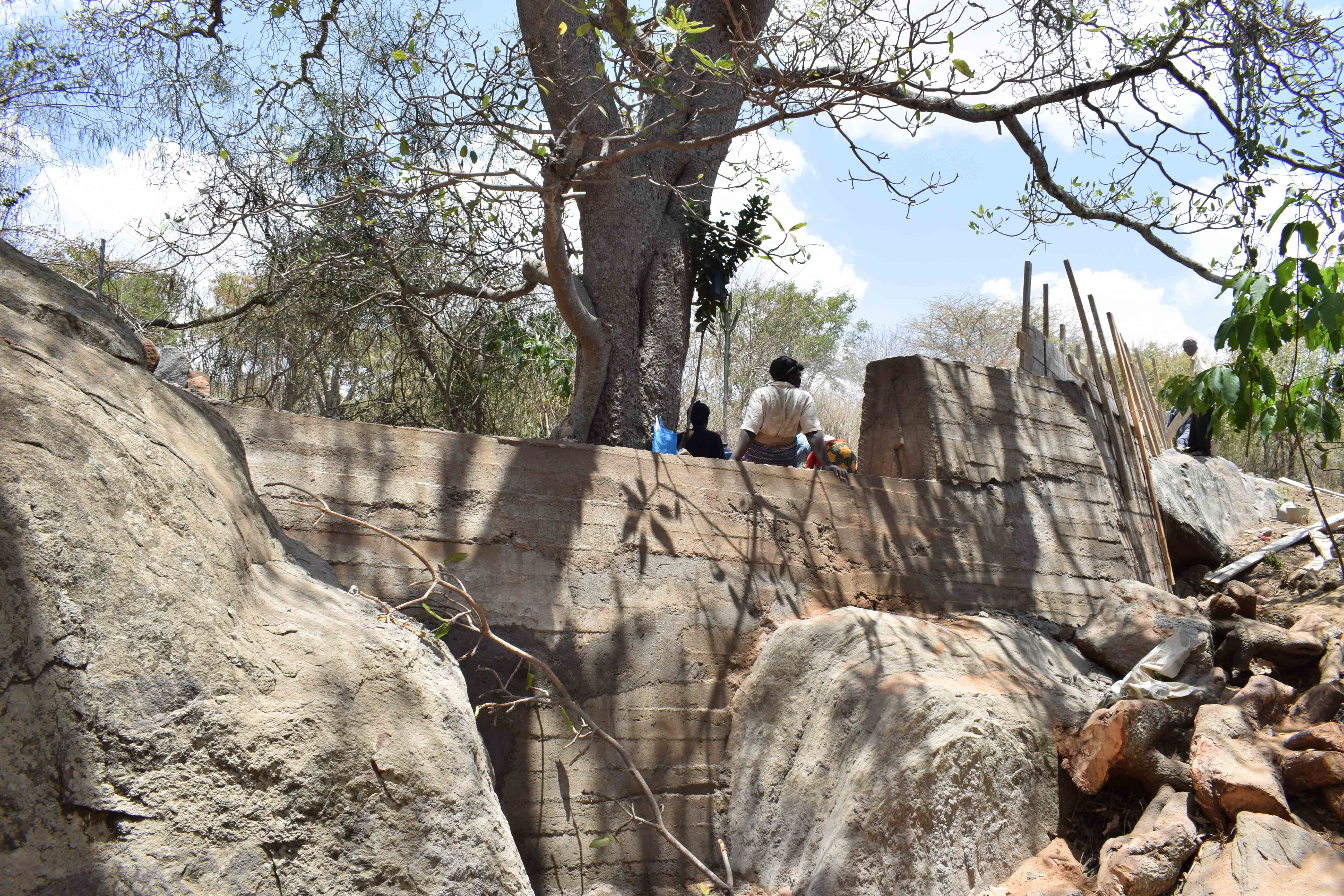 The Water Project : 1-kenya4758-finishing-touches