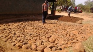The Water Project : 10-kenya4661-tank-foundation
