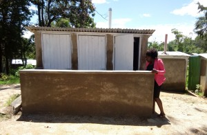 The Water Project : 16-kenya4661-finished-latrines