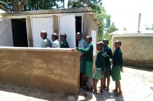 The Water Project : 17-kenya4661-finished-latrines