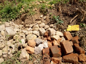 The Water Project : 7-kenya4717-construction-materials-gathered-by-community